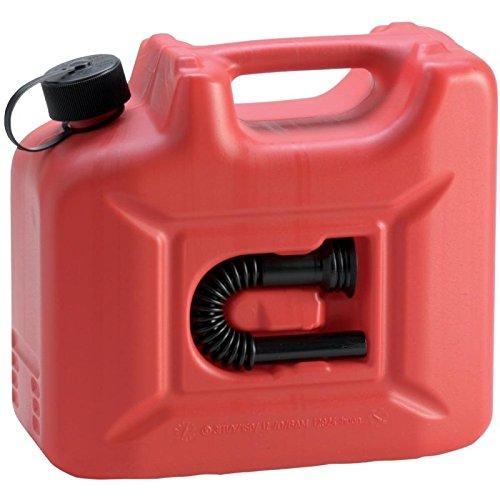 hünersdorff Kraftstoff-Kanister PROFI 10l für Benzin, Diesel und andere Gefahrgüter, UN-Zulassung, made in Germany, TÜV-geprüfte Produktion, rot