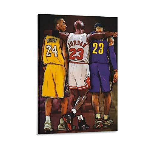 DHSJ Kobe LeBron LeBron James Michael Jordan - Póster decorativo para pared, diseño de James Michael Jordan
