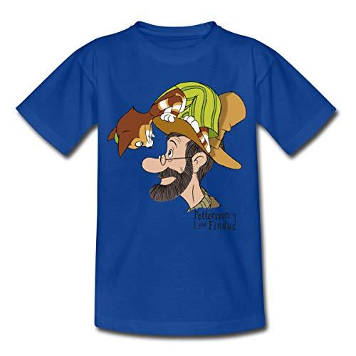 Pettersson Und Findus Unterhalten Sich Kinder T-Shirt, 110-116, Royalblau