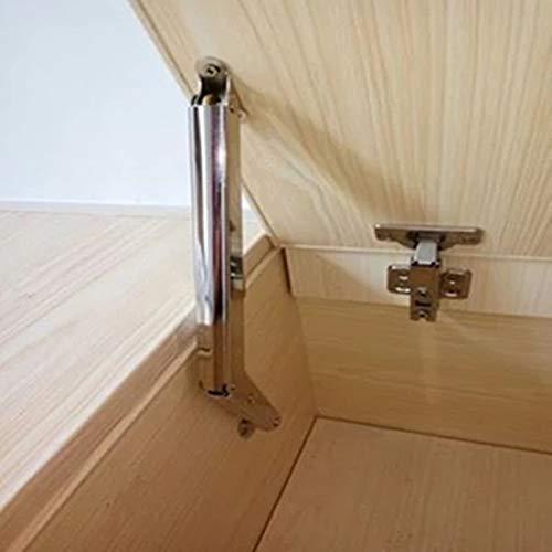 KUQIQI Tatami de Parada Libre de Tatami Soporte neumático bisagras Hidráulico Varilla Elevador Asalto de Apoyo Amortiguamiento para Muebles de Puerta de gabinete Hardware