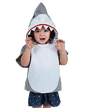 Coskidz Childrens' Shark Costume Halloween Multicolor Hoodie  S Gray