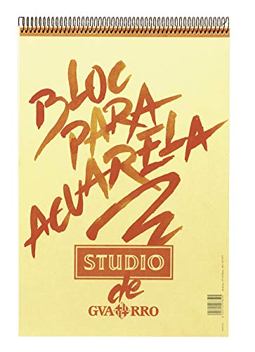 Álbum Espiral, A3, 40 Hojas, Guarro Studio Acuarela, Grano Fino 224g