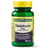 Spring Valley - Melatonin 5 mg, 120 Tablets