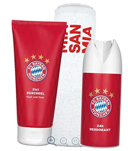 Unbekannt Bayern MÜNCHEN FCB Pflegeset + Sticker München Forever, Deospray, Duschgel, Handtuch
