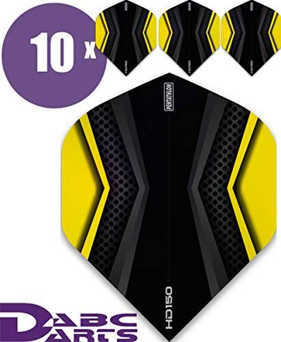 ABC Darts Unisex– Erwachsene Pentathlon HD150 Xwing Dart Flights, Gelb, Klassische