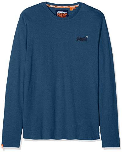 Superdry Orange Label Vintage Embroidery LS Top Camiseta, Azul (Ketion Blue Marl...