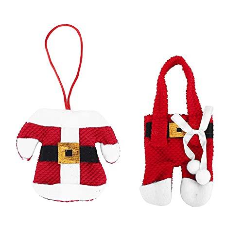 無料のすすり包丁スーツ銀器ホルダーポケットナイフフォークバッグ雪だるま型クリスマスパーティー装飾用品