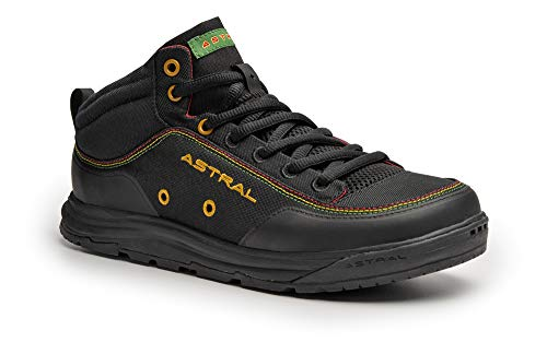 Astral Rassler 2.0 Outdoor Minimalist Shoes, Grippy and Lightweight, Made for Whitewater, Canyoneering, Fly Fishing, and Travel, Rasta Black, Men's 10 M US, Women's 11 M US