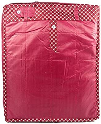 Pant Cover by ANNAPURNA SALES Parachute Material Large Wardrobe Organizers or Designer Cloth Bag or Garments Cover (Maroon) - Men & Women