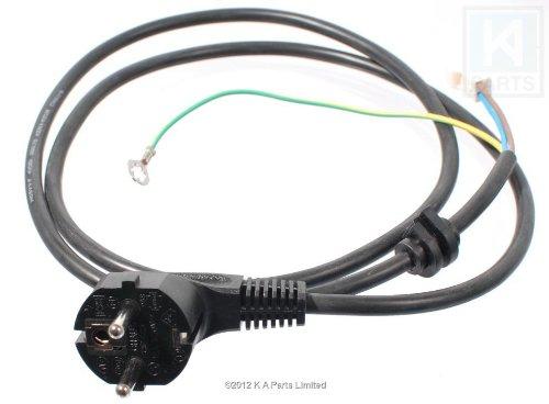 Vervangende voedingskabel Netkabel Zwart met Euro Shuko-stekker voor KitchenAid-staafmixer (modellen vanaf KSB555, 5KSB555)