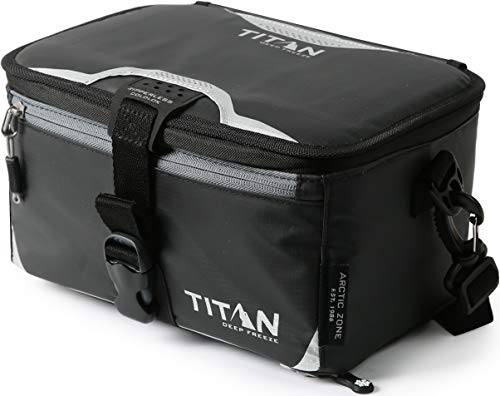 Arctic Zone 2315IL000000 Titan High Performance Insulated Zipperless Lunch Pack, Black, 11.5' x 8.25' x 5.75'