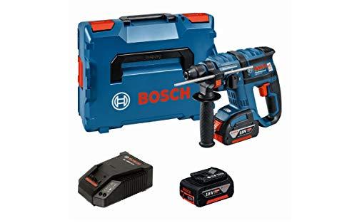 Bosch Professional 18V Akku Bohrhammer GBH 18 V-EC mit SDS-plus 2x 5,0 Ah Akku Ladegerät L-BOXX (18 Volt Schlagenergie: 1,7 J max. Bohr-Ø Stahl: 13 mm)