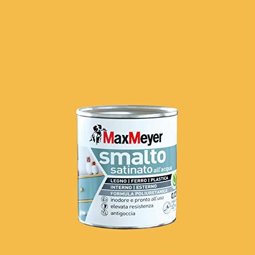 Maxmeyer 165329B130018 Smalto Satinato all'Acqua, Giallo Estate, 0.125 L