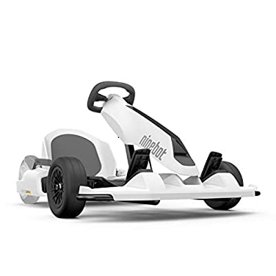 Segway Ninebot Electric GoKart Drift Kit, Outdoor Racer Pedal Car, Ride On Toys, requires Segway miniPRO or Ninebot S (sold separately), White