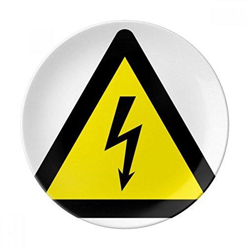 DIYthinker símbolo de Aviso Negro Amarillo Descarga eléctrica triángulo Decorativo de Porcelana...