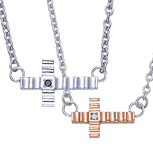 ペアネックレス ダイヤモンド ブラックダイヤモンド チタン クロス 十字架 fefe phiten フェフェ ファイテン FNTA0003/FNTA0004