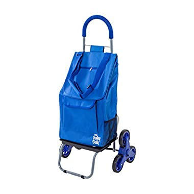 Trolley Dolly Stair Climber, Blue Grocery Foldable Cart Condo Apartment