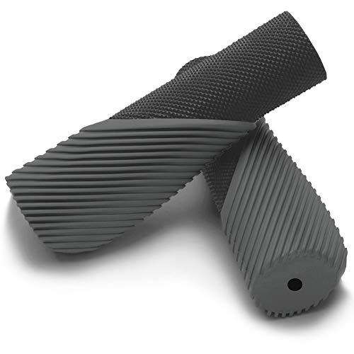 TOPCABIN Bike Handlebar Grips,Ergonomic Design Bicycle Handlebar Grips Widen Holding Surface Rubber Bike Grips with Aluminum Lock Bicycle Grips Handlebar Cover for Bike Mountain Road MTB (black01)