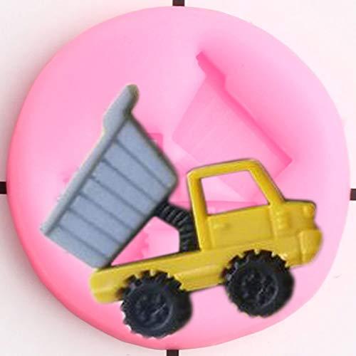 UNIYA Moldes de Silicona para camión volquete, decoración para Cupcakes de Coche, Molde para Fondant, Herramientas de decoración de Pasteles de cumpleaños para niños,moldes deChocolate y Dulces