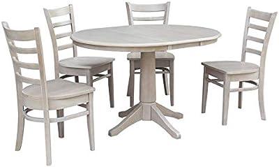 Amazon.com: Bowery Hill redondo parte superior mesa de ...