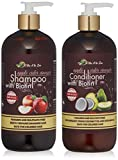 Apple Cider Vinegar & Biotin Shampoo & Conditioner | Infused with Aloe Vera Juice, Argon Oil & Saw...