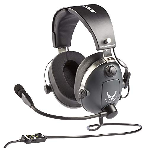 Thrustmaster T.Flight U.S. Air Force Edition (Gaming-Headset, 50mm Treiber, abn. Richtmikrofon, Memoryschaum m. Gelkissen, PS4 / Xbox One / PC)
