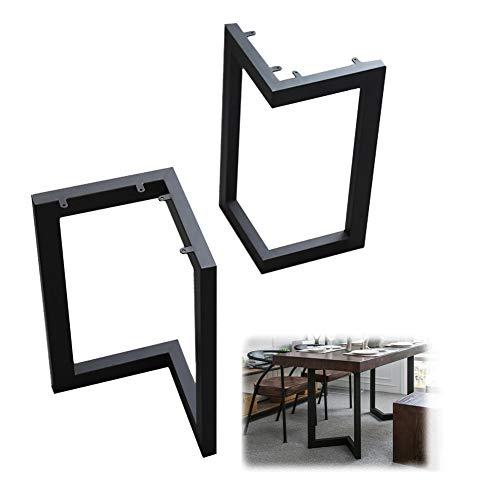 XYNH 2 Piezas Patas De Metal para Muebles, Negro Patas De Mesa 70cm, Patas De Mesa Regulables, Furniture Legs De Comedor, Fácil Instalación, Patas Mesa De Centro