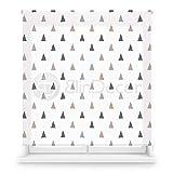 Blindecor Estor Enrollable translúcido Digital, Polyester, Blanco (Triángulos), 150 X 180 cm