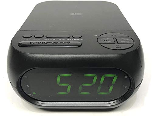 Onn CD/AM/FM Alarm Clock Radio with USB Port to Charge Devices + Aux-in Jack, Top Loading CD Player ONA 202 Refurbished