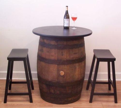 Vintage Oak Whiskey Barrel Table Set