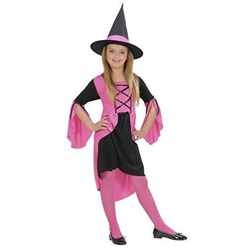 Widmann- Pink Witch 884 Robe de sorcière Rose pour Enfant, fête et Carnaval, Unisexe, 11001990, Multicolore, 158 cm / 11-13 anni