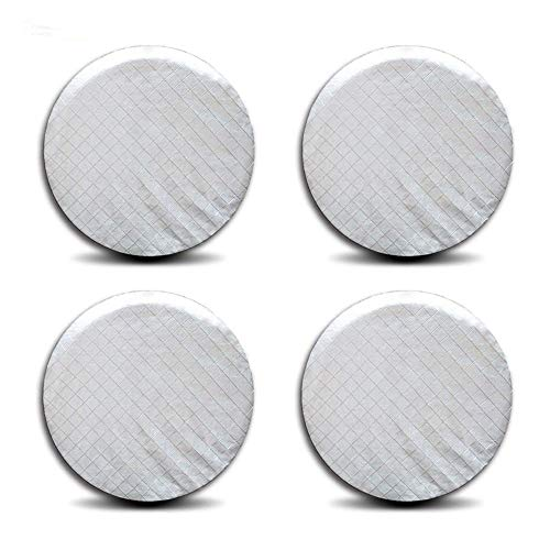 feiteng 4PCS 26' to 27'' Silver Wheel Tire Covers Storage for RV Trailer Camper Car Truck SUV Four Seasons