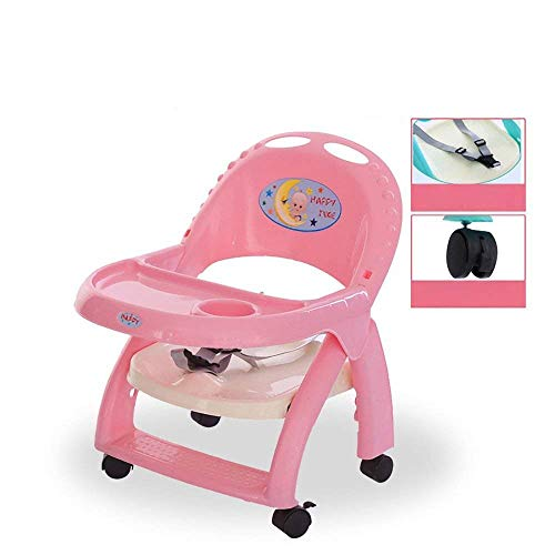 WYJW Pulley Uitneembare Baby Eetstoel Draagbare Kindertafel Stoel Opvouwbare Liftable Babytafel BB Kruk Eettafel Kinderklapstoel