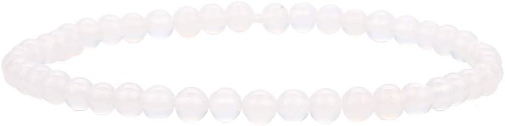 BALIBALI 4MM Mini Gemstone Energy Bracelets Tiny Bracelet Natural Stone Statement Bracelet Charm Beaded Couples Bracelets