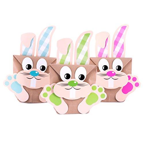 Pajoma, set per creare sacchetti regalo con coniglietti pasquali, fai da te, set da 6sacchetti