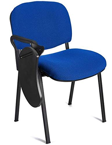 4x Silla confidente para oficina. Silla PVC, ideal para oficinas, academias, autoescuelas. Apilables. Disponibles en varios colores (azul)