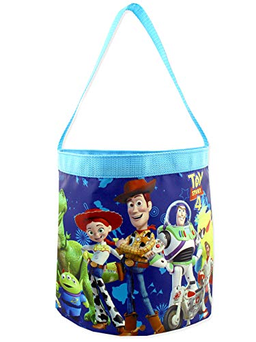 Toy Story 4 Boys Girls Collapsible Nylon Gift Basket Bucket Toy Storage Tote Bag (One Size, Toy Story 4)