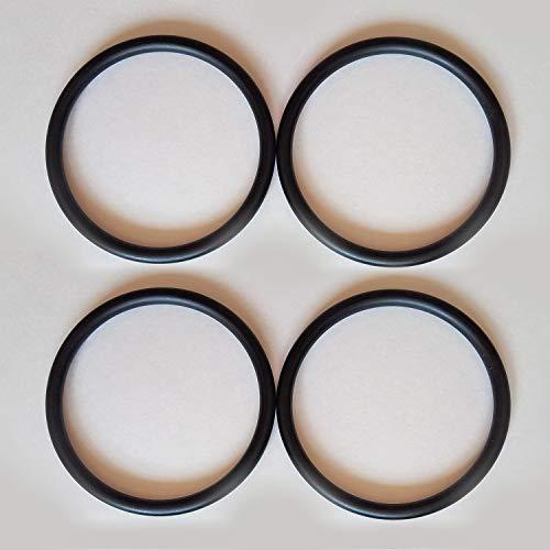 Roo Threads Aluminum Rings for Slings, Black (2 Pair)
