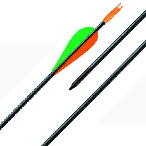 Herbertz Sportpfeil, Carbon, Kunststofffedern, Länge 76 cm Messer, grau, M