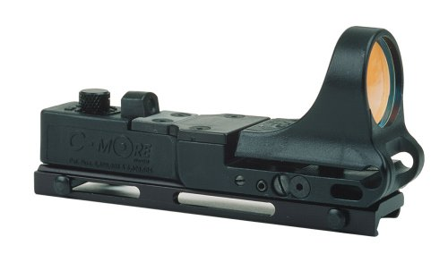 C-MORE Systems Railway Red Dot Sight with Click Switch, Black, 4 MOA