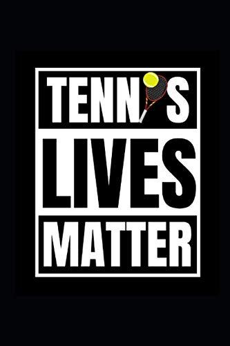 Tennis Lives Matter: Deutsch, 6 x 9 Journal mit einer Power-Liste des Tages für 100 Tage & Power-Workout-Planer. Seien Sie dankbar, essen Sie gut, ... Sie erfolgreich. Notizbuch für Ihre Ziele.