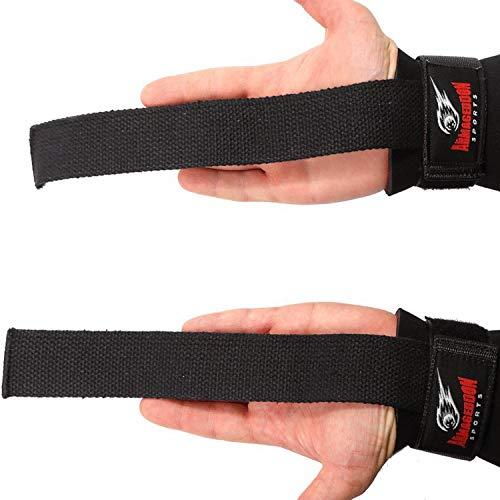 Zughilfen Lifting Straps Wrist Wraps mit Handgelenk Bandagen Paar für Herren Damen Krafttraining Bodybuilding Gewichtheben