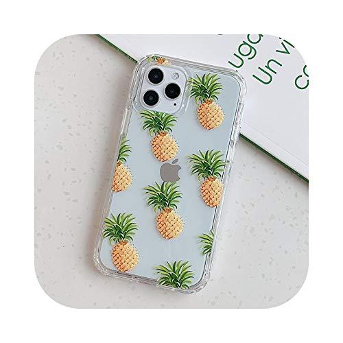 Carcasa de silicona para iPhone 11 Pro Max XS XR se 2020 7 8 Plus X Soft Back Cover Cases-Pine-para iPhone 11 Pro Pro Pro Pro