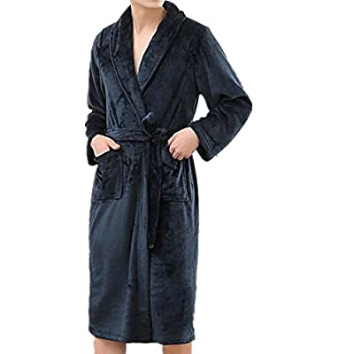 Women Men Bathrobe, Luxurious Soft Flannel Robe Plush Kimono Collar Robe / Bath Robes