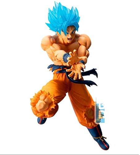 Lianlili Dragon Ball Z Goku Super Saiyan (Pelo Azul) Figura de acción Colección Anime Regalos for los Aficionados de Dragon Ball