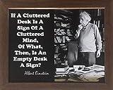 Desiderata Gallery Brand, Albert Einstein Messy Desk Quote Framed Photo Card 10x12