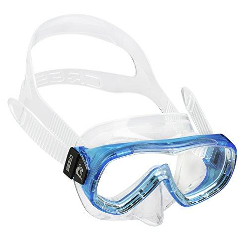 Cressi Kinder Piumetta JR Tauchmaske, Transparent/Aquamarin, One Size
