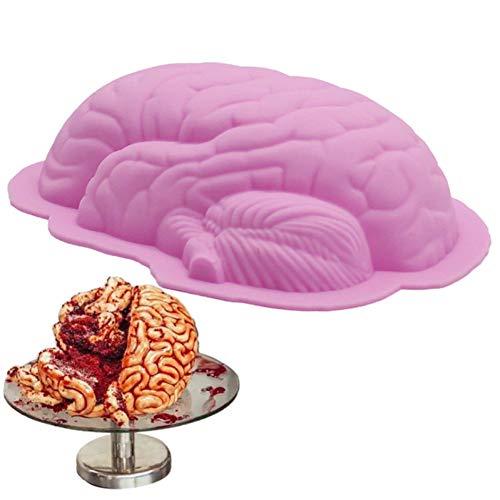 YUXIAN 8 Zoll Spaß DIY Gehirnform Pfanne Backen Silikon Halloween Kuchenform Pudding Jello Dessert Schimmel Küchengeschirr
