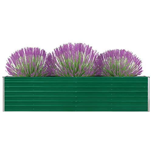FAMIROSA Jardinera elevada de Acero galvanizado Verde 320x40x77 cm