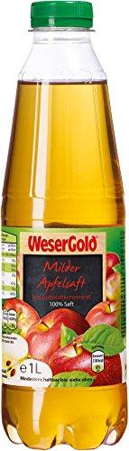 Wesergold Milder Apfelsaft PET, 6er Pack (6 x 1 l)